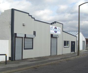 Example of building after steel cladding refurbishment
