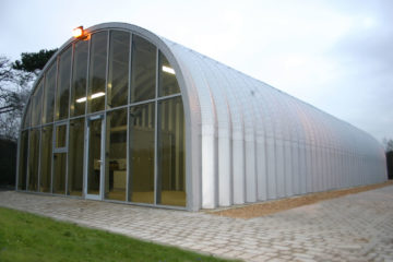 Steel Building Design With Glass Front
