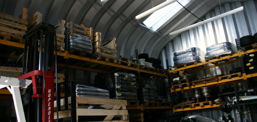 Inside A Miracle Span Storage Building With Shelving