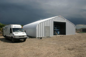 Miracle Span Storage building for Amec