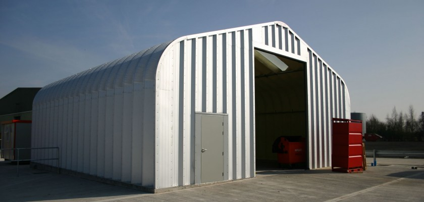Miracle Span storage building for Biffa