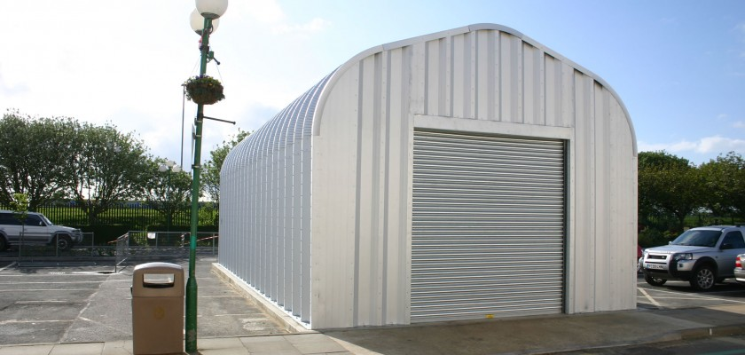 Miracle Span storage building for Butlins