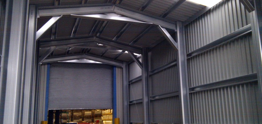 Steel frame building extension