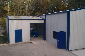 Steel Buildings : MiracleLite Storage Building With Extension