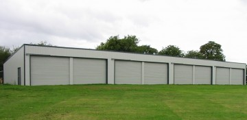 MiracleLite aircraft hangar with multiple openings