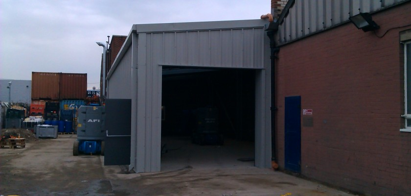 MiracleLite Industrial Steel Building Extension