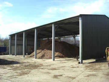 MiracleLite Woodchip Storage Building