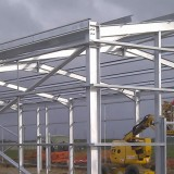 Steel Building Frame designed to suit site conditions