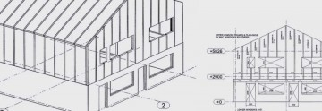 Steel building planning application drawing