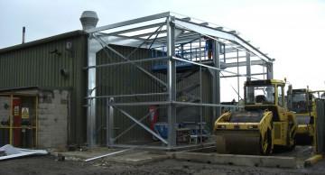 Steel Framed Building Extension