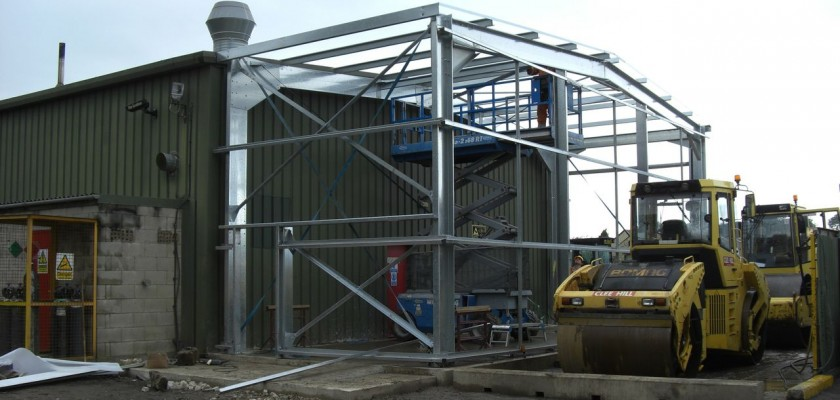 Steel Framed Building Extension