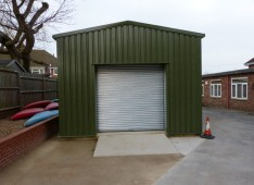 Steel storage building for Scout Group