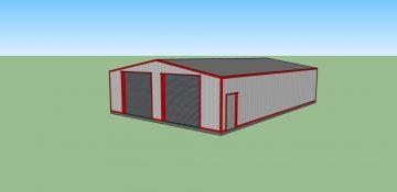 Steel MOT Workshop Building
