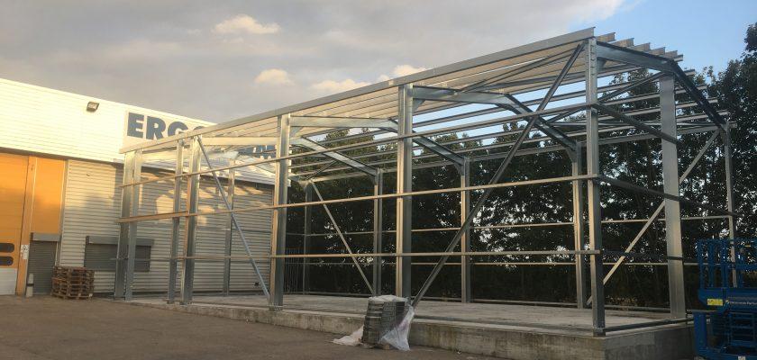 MiracleLite storage building under construction