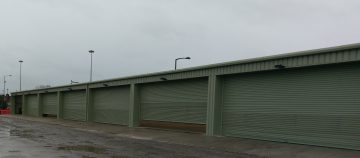 Miracle Portal building with multiple roller shutter doors