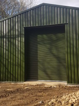 MiracleLite steel storage building for plumbing company