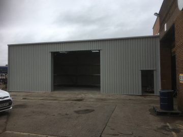 Steel Building Extension for Pullman Rail